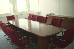 Meeting room, operational, 10 seats.