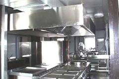 Impianto di cucina installata su container.